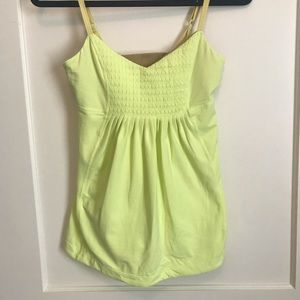 Lululemon adjustable workout camisole top.